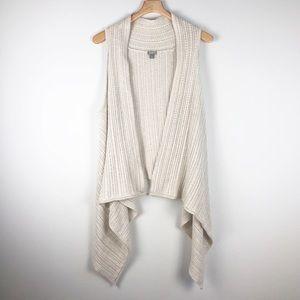 J. Jill Sleeveless waterfall cardigan size medium